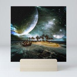 Wonderful tropical island Mini Art Print