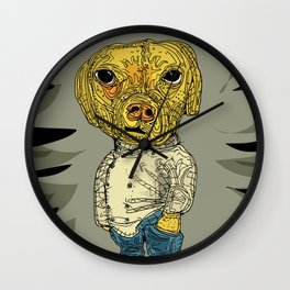The hip dog Wall Clock