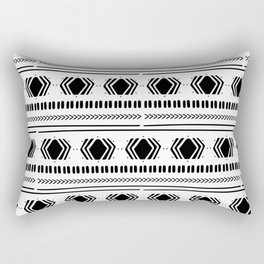 Ethnic Pattern on White Backgorund Rectangular Pillow