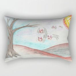 Flying Eyes by Mouth Moonlight  Rectangular Pillow