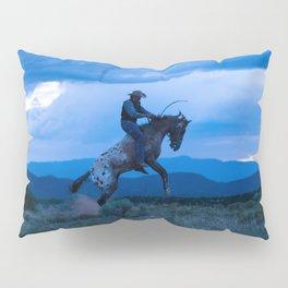 Santa Fe Cowboy Being Bucked Off Pillow Sham