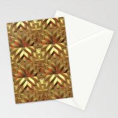 Golden Patchwork Stationery Cards