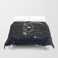 astronomy Duvet Covers featuring Mythology of Astronomy by Pygmy Creative