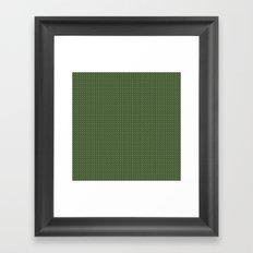 Knitted spring colors - Pantone Kale Framed Art Print