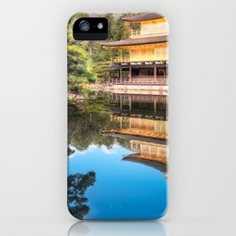 Wonderful Japanese Zen gardens at Golden Pavilion, Kyoto, Japan. iPhone Case