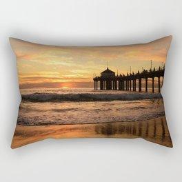 Sunset, Fishing Pier Rectangular Pillow