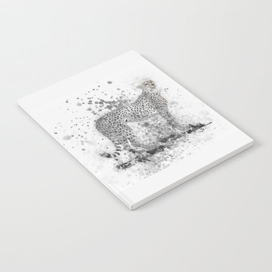Cheetah in Black and White Notebook