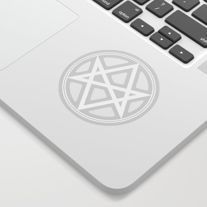 Men Of Letters Symbol White Sticker By Falln