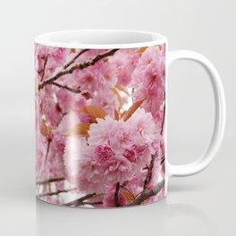 Full bloom pink double cherry blossom Coffee Mug