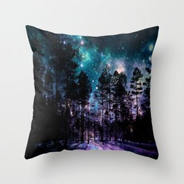 One Magical Night... teal & purple Throw Pillow