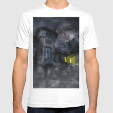 Fright Night White Mens Fitted Tee SMALL