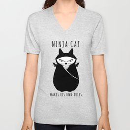 Ninja Cat Unisex V-Neck