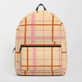 grid check layer_beige Backpack