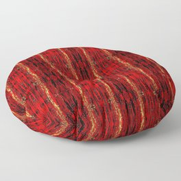 Red Gold, Old Oriental Pattern Floor Pillow