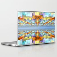 sci fi Laptop & iPad Skins featuring Sci Fi Horizons by Phil Perkins