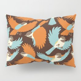 Chickadees in Brown Pillow Sham