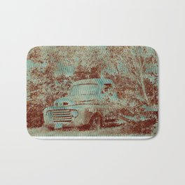 1950 Ford F100- Textured Rust Bath Mat