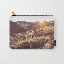 Sunset in the High Sierra Carry-All Pouch