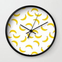 BANANA BANANAS FRUIT FOOD PATTERN Wall Clock