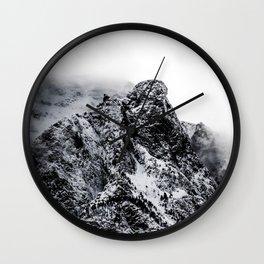 Mountain black white 5 photo Wall Clock