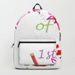 1st Day of 1st Grade Funny Second Grader design Backpack
