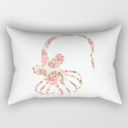 Floral Facehugger Rectangular Pillow