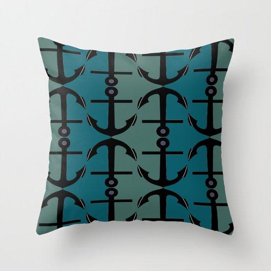 Ocean Anchors Throw Pillow