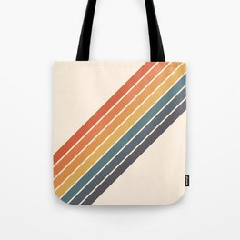 Arida -  70s Summer Style Retro Stripes Tote Bag