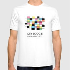 CITY BOOGIE  by ISHISHA PROJECT White SMALL Mens Fitted Tee