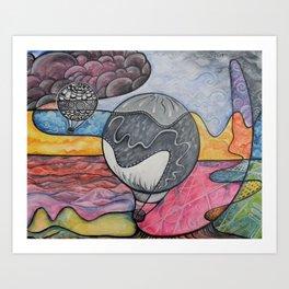 Balloons Over Nazca Art Print
