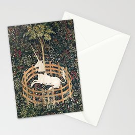 The Unicorn in Captivity Stationery Cards