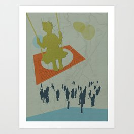 Life gets in the way Art Print