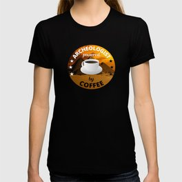 Archeologist Powered By Coffee - Pyramid T-shirt