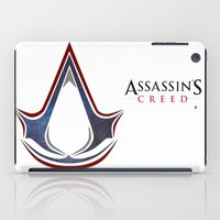 assassins creed iPad Cases featuring Assassins Creed - Space by Fatih