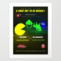 fight Art Prints featuring Fight ! by mauro mondin