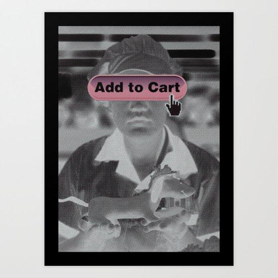 Just a click away Art Print