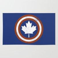 canada Area & Throw Rugs featuring Captain Canada by trekvix