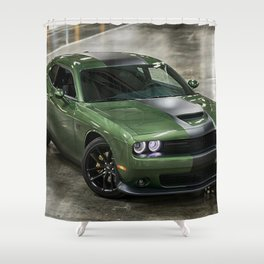 Challenger Stars and Stripes Edition Shower Curtain