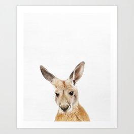 Kangaroo, Animal, ZOO, Nursery, Minimal, Modern, Wall art Art Print Art Print