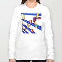 donkey kong Long Sleeve T-shirts featuring Inside Donkey Kong stage 4 by Metin Seven