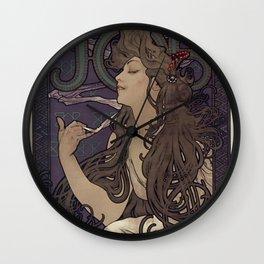 Alfonse Mucha HF5 Wall Clock