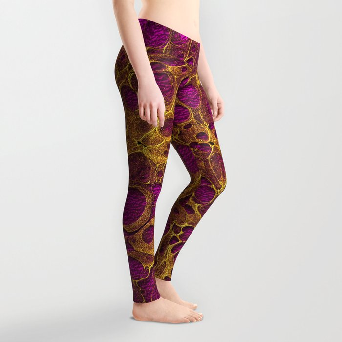 Golden Marble 03 Leggings