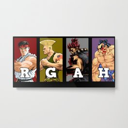 Team Street Fighter Metal Print