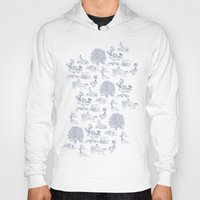 lotr Hoodies featuring Shire Toile by Jackie Sullivan