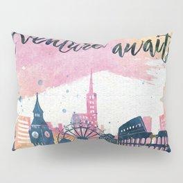 Adventure Awaits Watercolor Pillow Sham