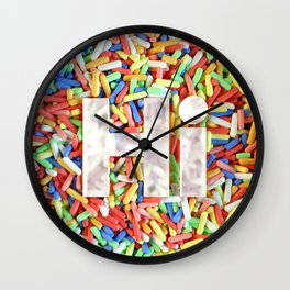 Hi, with Sprinkles Wall Clock