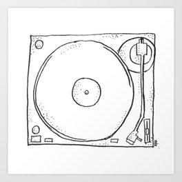 recordplayer Art Print