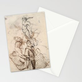 Sketches - Paul Cézanne, France, 19th century Graphite and pen and brown ink Stationery Cards