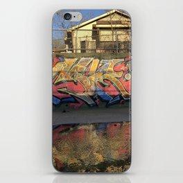 Graffiti in the ditch iPhone Skin