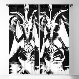 Der Baphomet Negative Blackout Curtain